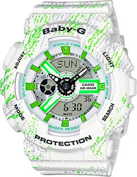 Casio Часы Casio BA-110TX-7A. Коллекция Baby-G женские часы casio ba 110tx 1a