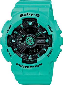 Casio Часы Casio BA-111-3A. Коллекция Baby-G casio часы casio ba 110sn 3a коллекция baby g