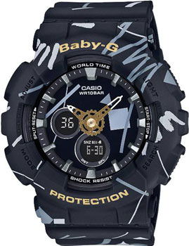 Casio Часы Casio BA-120SC-1A. Коллекция Baby-G часы женские casio g shock baby g ba 120 7b white