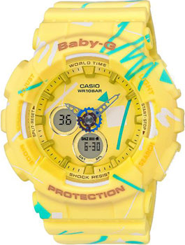 Casio Часы Casio BA-120SC-9A. Коллекция Baby-G часы женские casio g shock baby g ba 120 7b white