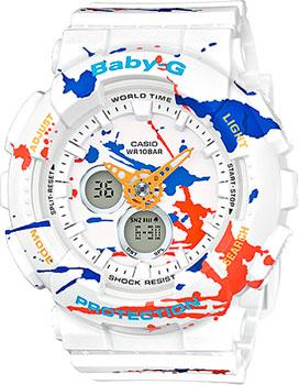 Casio Часы Casio BA-120SPL-7A. Коллекция Baby-G casio baby g ba 120spl 1a