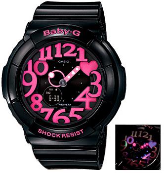 Casio Часы Casio BGA-130-1B. Коллекция Baby-G casio часы casio bga 180 1b коллекция baby g
