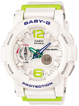 Casio Часы Casio BGA-180-7B2. Коллекция Baby-G casio watch tide three dimensional electronic sports female watch bga 180 2b bga 180 1b bga 180 7b2 bga 180be 7b bga 180 7b1