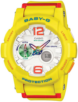 Casio Часы Casio BGA-180-9B. Коллекция Baby-G casio watch tide three dimensional electronic sports female watch bga 180 2b bga 180 1b bga 180 7b2 bga 180be 7b bga 180 7b1