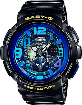 Casio Часы Casio BGA-190GL-1B. Коллекция Baby-G casio часы casio bga 190 1b коллекция baby g
