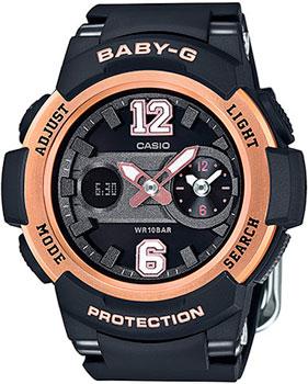 Casio Часы Casio BGA-210-1B. Коллекция Baby-G кварцевые часы casio baby g bga 210 7b1 white grey