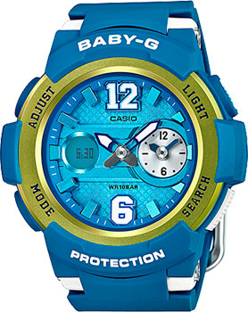 Casio Часы Casio BGA-210-2B. Коллекция Baby-G кварцевые часы casio baby g bga 210 7b1 white grey