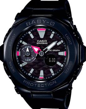 Casio Часы Casio BGA-225G-1A. Коллекция Baby-G кварцевые часы casio baby g bga 210 7b1 white grey