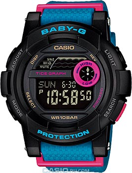 Casio Часы Casio BGD-180-2E. Коллекция Baby-G цена
