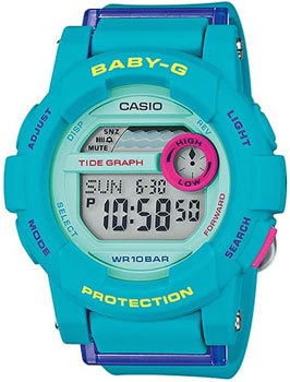 Casio Часы Casio BGD-180FB-2E. Коллекция Baby-G casio часы baby g bgd 501fs 2e