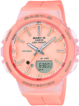 Casio Часы Casio BGS-100-4A. Коллекция Baby-G часы наручные casio часы baby g ba 120tr 7b