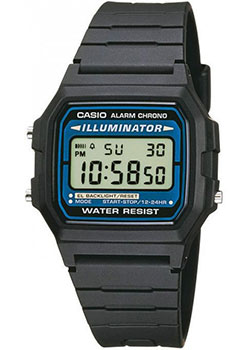 Casio Часы Casio F-105W-1A. Коллекция Digital casio f 91w 3s