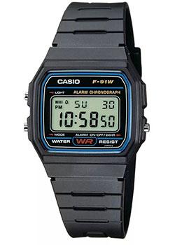 Casio Часы Casio F-91W-1Q. Коллекция Digital casio f 91w 3s