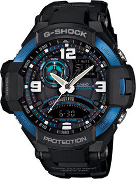 Casio Часы Casio GA-1000-2B. Коллекция G-Shock casio prw 3000 2b casio