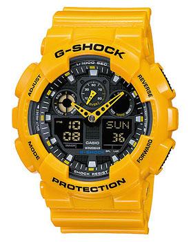 Casio Часы Casio GA-100A-9A. Коллекция G-Shock casio ga 100a 9a