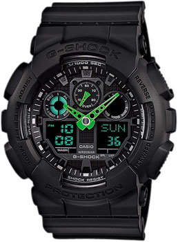 Casio Часы Casio GA-100C-1A3. Коллекция G-Shock casio ga 100c 1a3