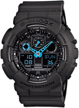 Casio Часы Casio GA-100C-8A. Коллекция G-Shock casio ga 100c 1a3