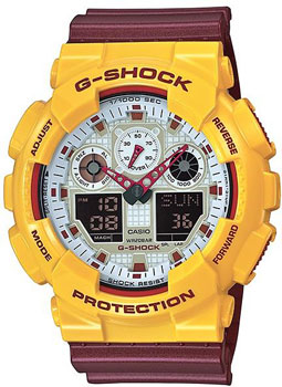 Casio Часы Casio GA-100CS-9A. Коллекция G-Shock casio ga 110ne 9a