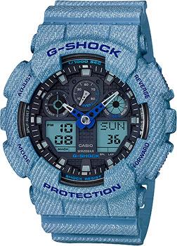 Casio Часы GA-100DE-2A. Коллекция G-Shock