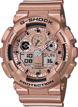 Casio Часы Casio GA-100GD-9A. Коллекция G-Shock casio bga 185 9a
