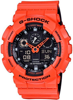 Casio Часы Casio GA-100L-4A. Коллекция G-Shock casio g shock g premium ga 1000 4a