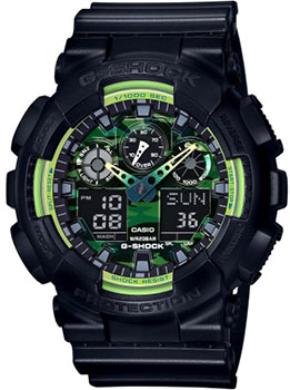 Casio Часы Casio GA-100LY-1A. Коллекция G-Shock casio часы casio ga 100ly 1a коллекция g shock