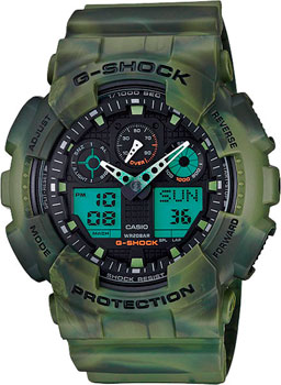 Casio Часы Casio GA-100MM-3A. Коллекция G-Shock casio g shock g classic ga 100mm 3a