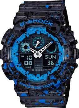Casio Часы Casio GA-100ST-2A. Коллекция G-Shock casio g shock g classic ga 110mb 1a
