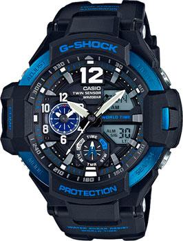 Casio Часы Casio GA-1100-2B. Коллекция G-Shock casio g shock g classic ga 110mb 1a