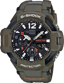 Casio Часы Casio GA-1100KH-3A. Коллекция G-Shock casio g shock ga 1100kh 3a