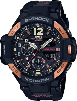 Casio Часы Casio GA-1100RG-1A. Коллекция G-Shock casio g shock g classic ga 110mb 1a