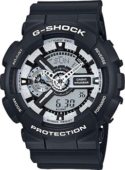 Casio Часы Casio GA-110BW-1A. Коллекция G-Shock casio ga 110hc 1a