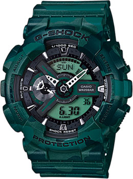 Casio Часы Casio GA-110CM-3A. Коллекция G-Shock casio g shock ga 1100kh 3a