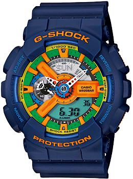 Casio Часы  GA-110FC-2A. Коллекция -Shock
