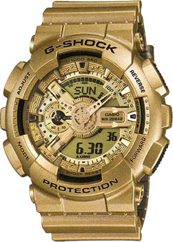 Casio Часы Casio GA-110GD-9A. Коллекция G-Shock hot sale winter jacket men fashion cotton coat warm parka homme men s causal outwear hoodies clothing mens jackets and coats