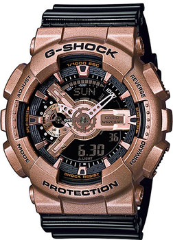 Casio Часы Casio GA-110GD-9B2. Коллекция G-Shock transcend micro sdhc 16 gb class 10 no adapter ts 16 gusdc 10