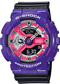 Casio Часы Casio GA-110NC-6A. Коллекция G-Shock casio часы casio gma s110mc 6a коллекция g shock