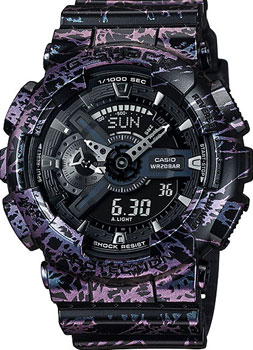 Casio Часы Casio GA-110PM-1A. Коллекция G-Shock casio часы casio ga 100bw 1a коллекция g shock