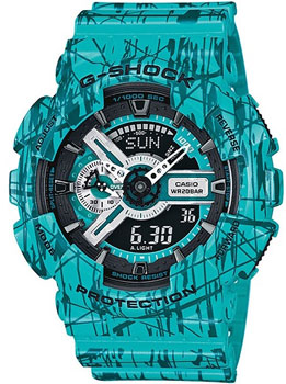 Casio Часы Casio GA-110SL-3A. Коллекция G-Shock casio ga 500p 3a