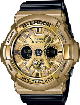 Casio Часы Casio GA-200GD-9B2. Коллекция G-Shock casio часы casio ga 110sl 8a коллекция g shock