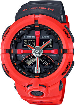 Casio Часы Casio GA-500P-4A. Коллекция G-Shock casio ga 500p 3a