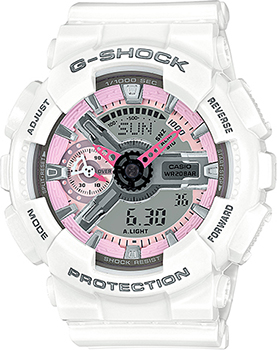 Casio Часы Casio GMA-S110MP-7A. Коллекция G-Shock casio часы casio gma s110mc 6a коллекция g shock