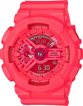 Casio Часы Casio GMA-S110VC-4A. Коллекция G-Shock casio часы casio gma s110mc 6a коллекция g shock