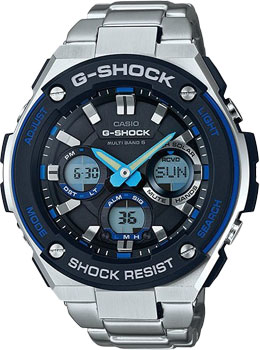 Casio Часы Casio GST-W100D-1A2. Коллекция G-Shock casio wave ceptor wv 200de 1a