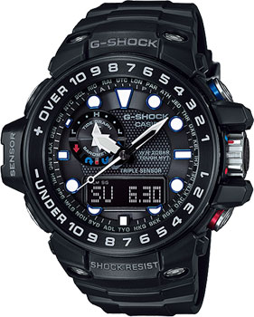 Casio Часы Casio GWN-1000B-1A. Коллекция G-Shock часы casio g shock gulfmaster gwn 1000b 1b black navy