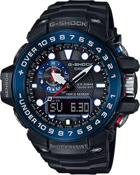 Casio Часы Casio GWN-1000B-1B. Коллекция G-Shock часы casio g shock gulfmaster gwn 1000b 1b black navy