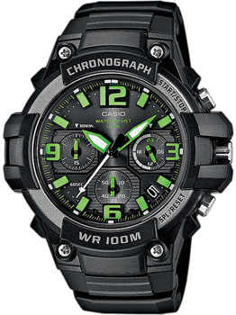 Casio Часы Casio MCW-100H-3A. Коллекция Analog часы casio collection mcw 100h 3a black green