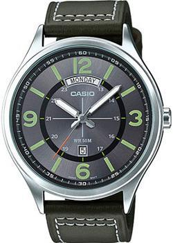Casio Часы Casio MTP-E129L-3A. Коллекция Analog часы casio collection mcw 100h 3a black green