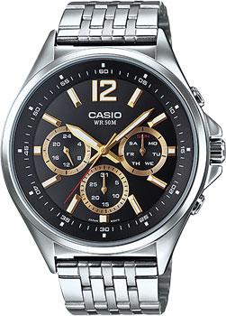Casio Часы Casio MTP-E303D-1A. Коллекция Analog беспроводная bt колонка ginzzu gm 881b bt колонка 3w lcd usb tf aux fm часы будильник