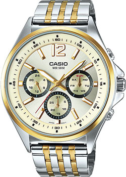 Casio Часы Casio MTP-E303SG-9A. Коллекция Analog casio часы casio mtp v004sg 9a коллекция analog